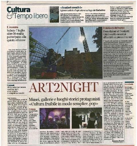 Art2Night, musei, gallerie e luoghi storici protagonisti