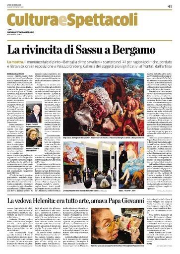 La rivincita di Sassu a Bergamo
