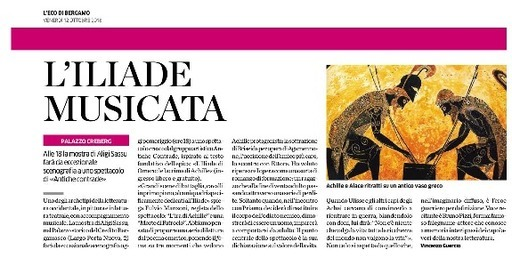 L'Iliade musicata