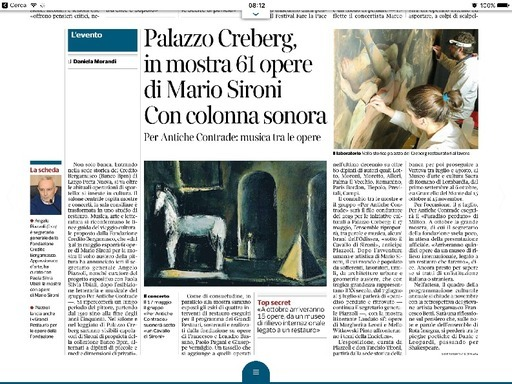Palazzo Creberg, in mostra 61 opere di Mario Sironi. Per Antiche Contrade musica tra le opere