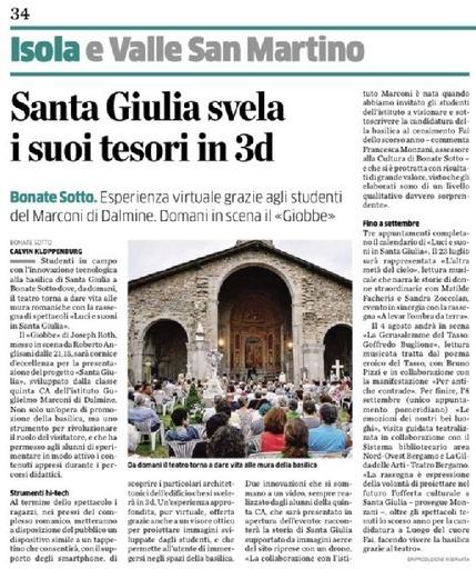 Santa Giulia svela i suoi tesori in 3D