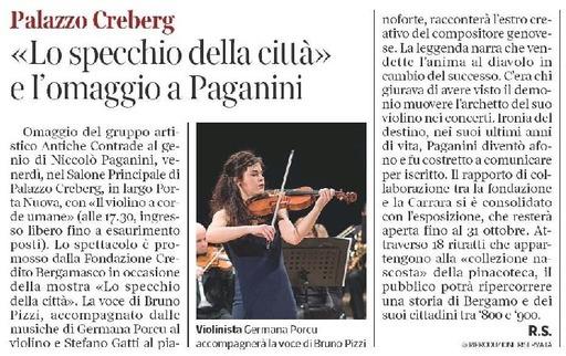 Lo specchio della città e l'omaggio a Paganini
