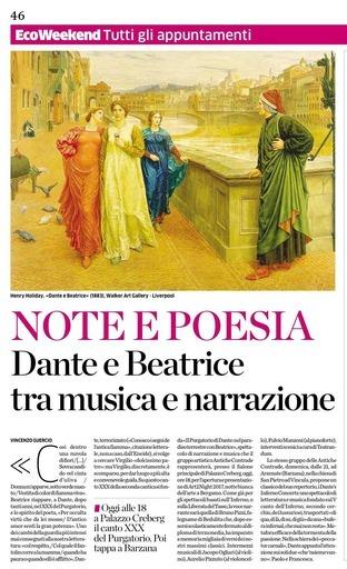 Note e poesia: Dante e Beatrice tra musica e narrazione