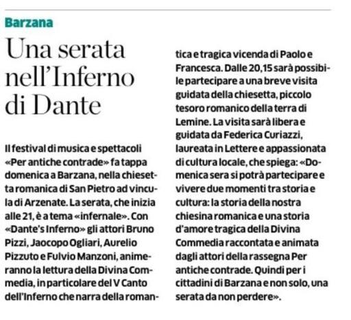 Una serata nell'inferno di Dante