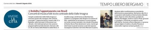 A Bedulita l'appuntamento con Brasil