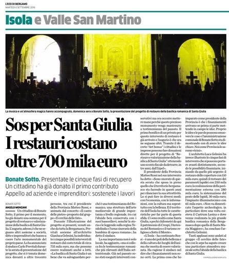 SOS per Santa Giulia