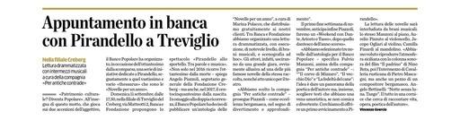 Appuntamento in banca con Pirandello a Treviglio