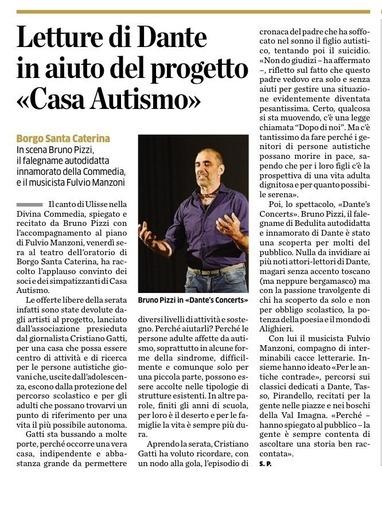 Letture di Dante in aiuto al progetto Casa Autismo