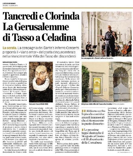 Tancredi e Clorinda, la Gerusalemme di Tasso a Celadina