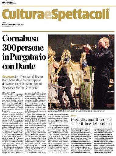 Cornabusa, 300 persone in purgatorio con Dante