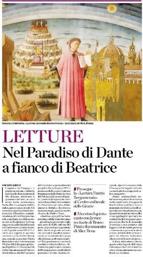 Nel Paradiso di Dante a fianco di Beatrice