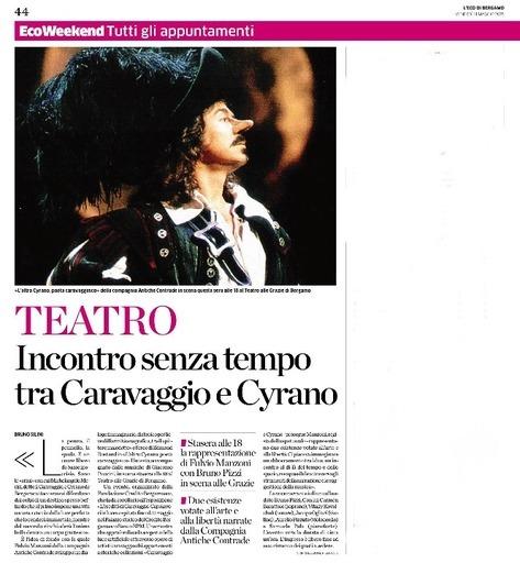 Incontro senza tempo tra Caravaggio e Cyrano