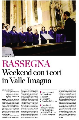Weekend con i cori in Valle Imagna
